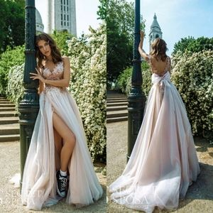 💗 Gabbiano Blush / Dusty Rose Wedding Dress